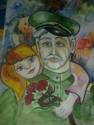 Детский рисунков 9 мая день победы