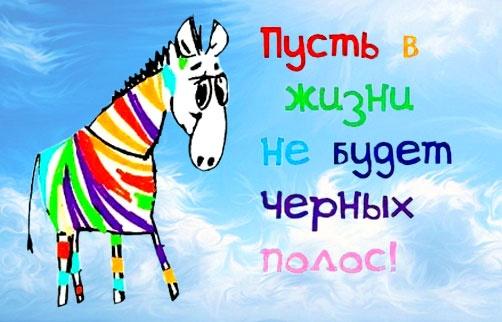 Поздравление с днём рождения зебра