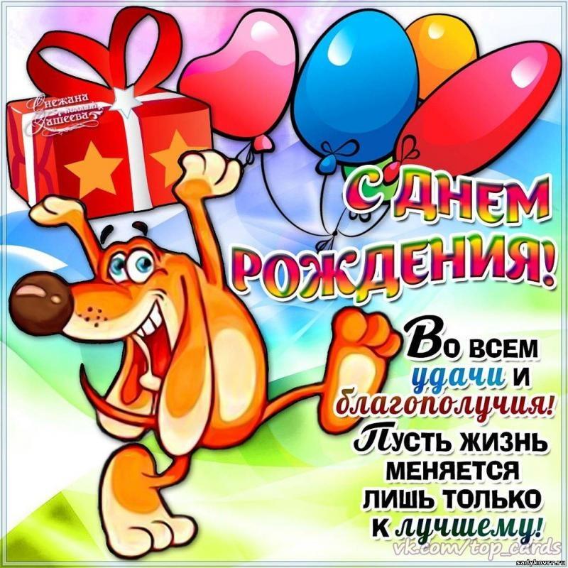 Открытки и поздравления с днём рождения прикольные
