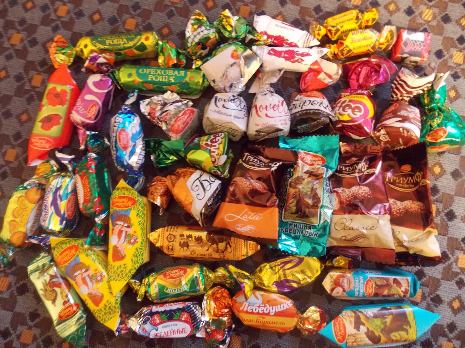 популярные конфеты в россии фото