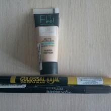 Набор от Мэйбеллин тональный крем, карандаш для <strong>visavis одежда интернет</strong> бровей, карандаш для глаз