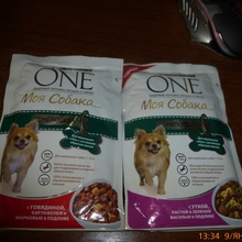 2 пакетика корма. от Purina One