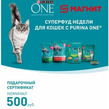 Сертификат на 500 руб. в Магнит от Purina One